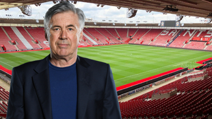 Diseño de Carlo Ancelotti y St Mary's Stadium.
