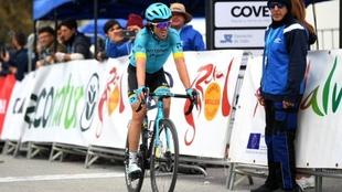 La felicidad del español tras la victoria de la sexta etapa.