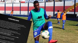 Johan Arango entrenando y su comunicado.