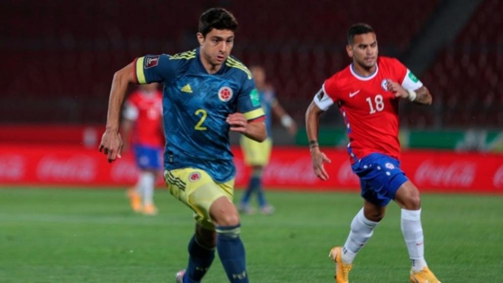 Stefan Medina, en competencia con la Selección Colombia.