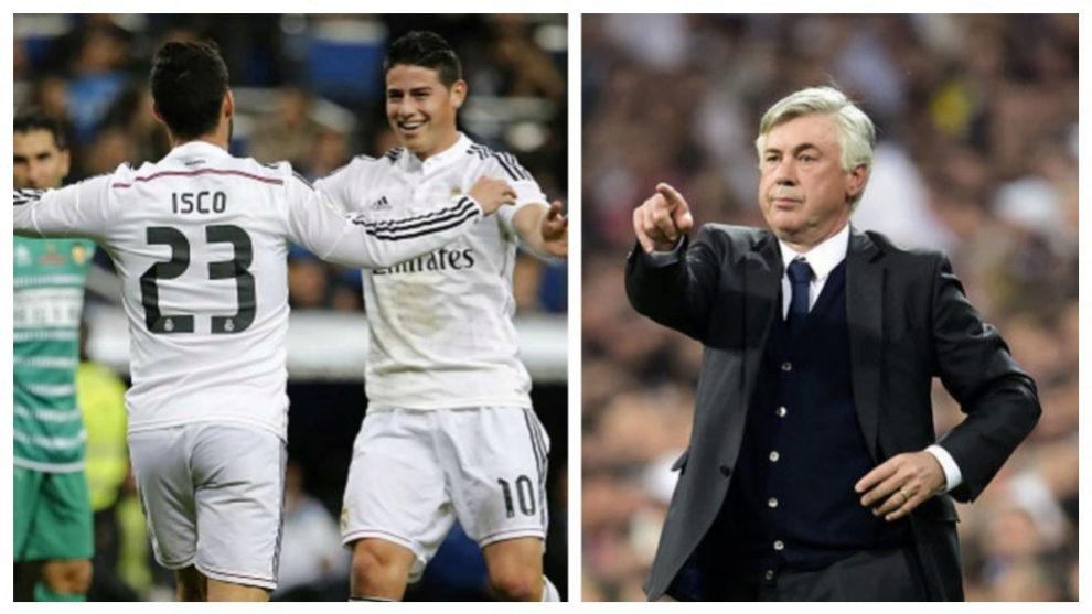 ¿Unirá Carlo Ancelotti a James e Isco de nuevo?