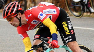 Primoz Roglic, en la etapa 17 de la Vuelta a España.