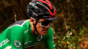 Richard Carapaz, durante la Vuelta a España.
