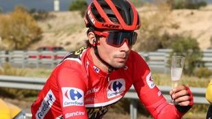 Roglic, durante la última etapa de la vuelta a España 2020.