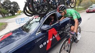 Richard Carapaz, durante la última etapa de la Vuelta a España.