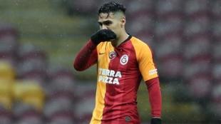 Falcao García en uno de los partidos con el Galatasaray