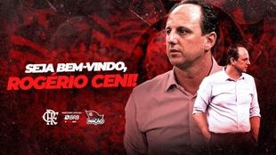 Póster de presentación de Rogerio Ceni en Flamengo.