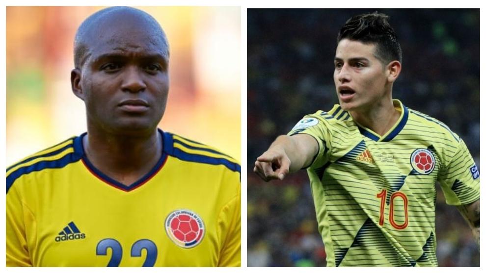 Aquivaldo y James llegaron a coincidir en la Selección.
