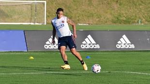 Luis Fernando Muriel, en entrenamiento con la Selección Colombia.