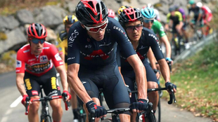 Chris Froome, durante LaVuelta 2020.