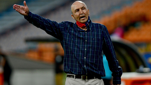Javier Álvarez, durante un compromiso de Liga BetPlay.