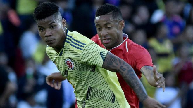 Wilmar Barrios, durante un partido con Colombia