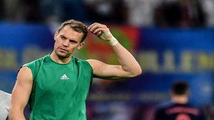 Neuer, al final de un partido