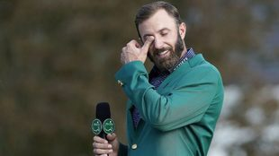 Dustin Johnson y las lágrimas del ganador del Masters de Augusta.