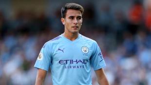 Eric García, durante un partido con el Manchester City.
