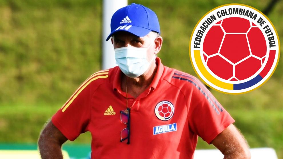 Carlos Queiroz, durante un entrenamiento de la Selección Colombia.