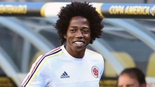 Carlos Sánchez, durante un partido de la Selección Colombia.