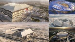 Algunos de los estadios que acogerán el Mundial de Qatar 2022.