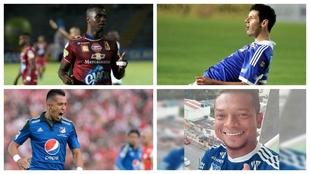 Marco Pérez, Pedro Franco, Fernando Uribe y Fredy Guarín, jugadores...