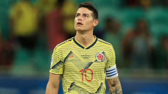 James Rodríguez con la Selección Colombia.