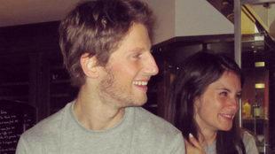 Marion, con Romain Grosjean