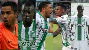 Los jugadores que saldrán de Atlético Nacional.