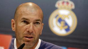 Zidane, durante una rueda de prensa