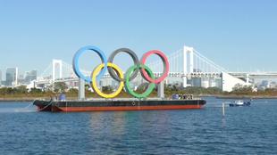 Los anillos olímpicos han sido reinstalados en el Parque Marino de...