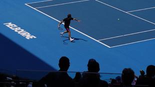 Roger Federer, durante el Open de Australia de 2020.