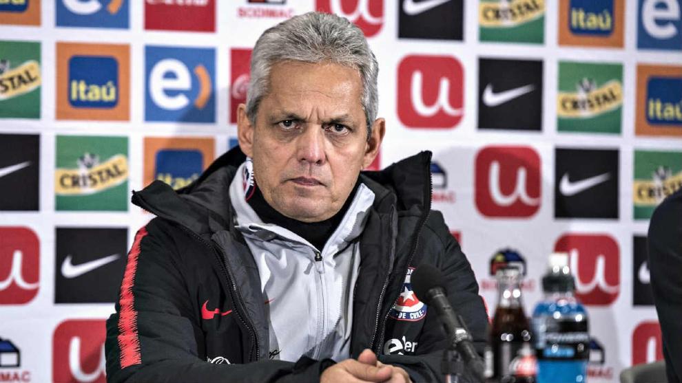 Reinaldo Rueda durante una conferencia de prensa de la selección...