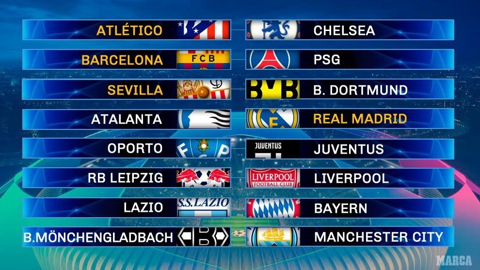 Champions Hoy Sorteo De Champions En Vivo Los Cruces De Octavos De La Uefa Champions League Minuto A Minuto Marca Claro Colombia
