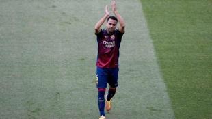 Xavi, el día de su despedida con el Barça.