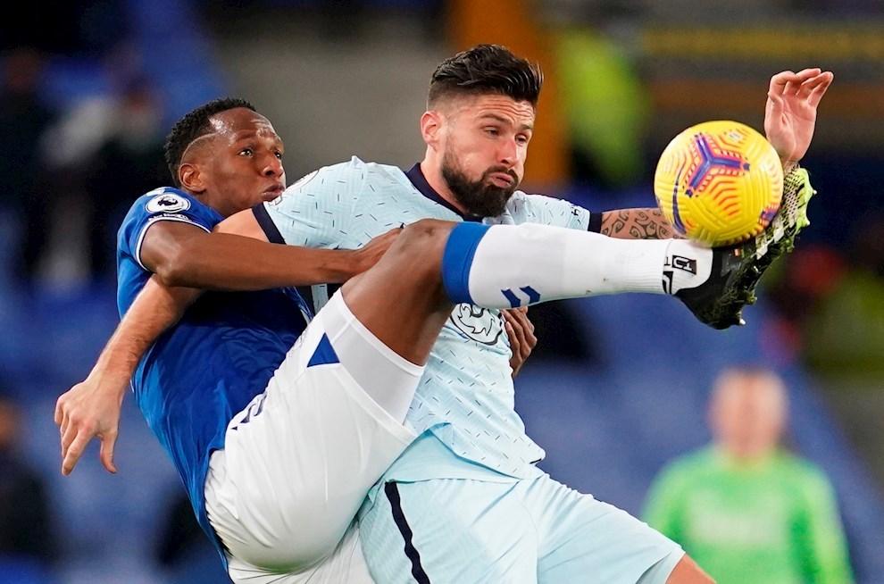 La redención de Yerry Mina en el Everton 1