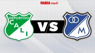 Cali vs Millonarios, en directo; repechaje por cupo a la Sudamericana.