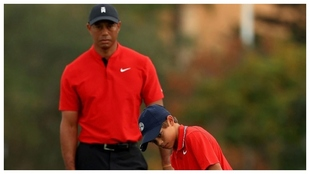Tiger y Charile Woods.