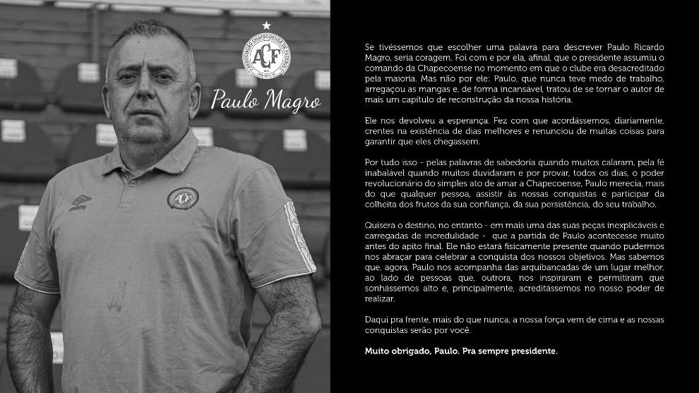 La tragedia vuelve a golpear al Chapecoense: muere su presidente 1