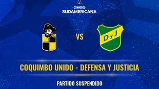 Coquimbo vs Defensa y Justicia se jugará en Asunción.