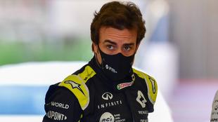 Fernando Alonso, en pruebas con Ranault F1.