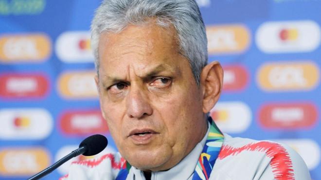 Reinaldo Rueda, en una conferencia de prensa.