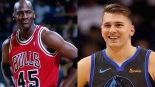 Michael Jordan y Luka Doncic