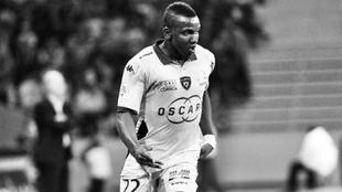 Christopher Maboulou, en un partido con el Bastia