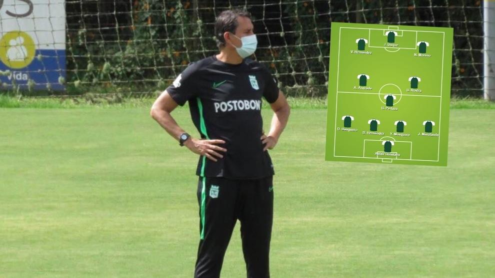 Guimaraes tiene su primer gran prueba con Atlético Nacional.