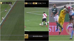 Las tres jugadas polémicas del Palmeiras-River.
