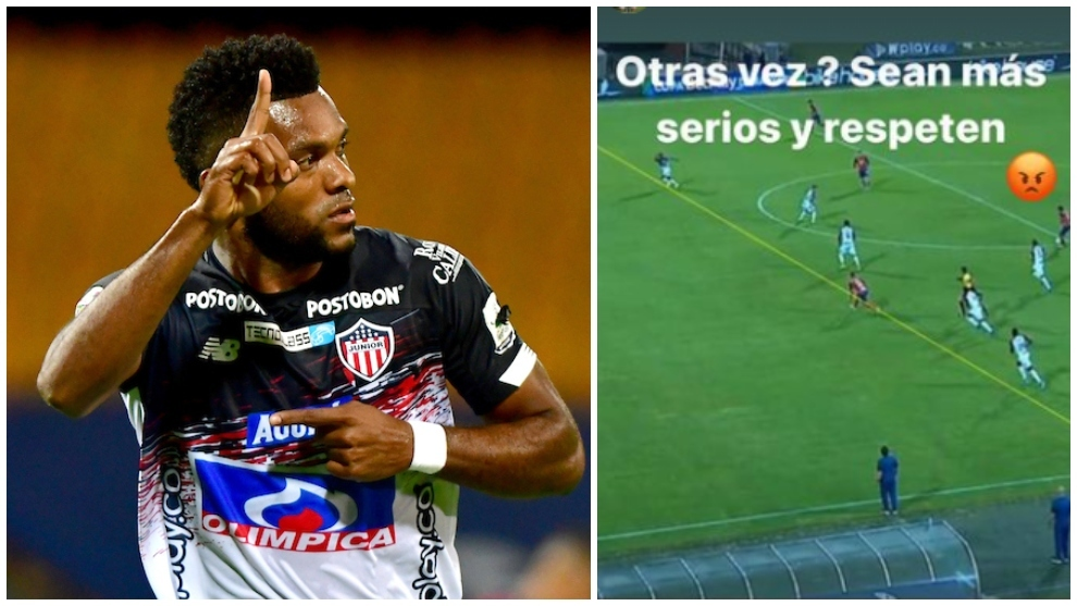Collage de Miguel Ángel Borja y su mensaje tras la eliminación.