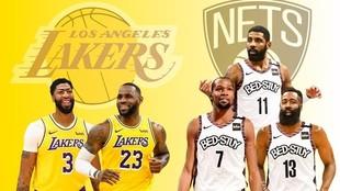 Los Nets de Brooklyn se plantean como el principal rival de los Lakers...