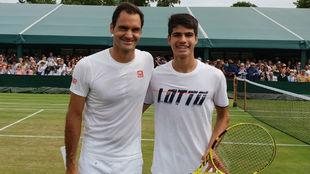 Federer y Alcaraz.