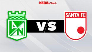 Atlético Nacional vs Santa Fe, en directo Liga colombiana