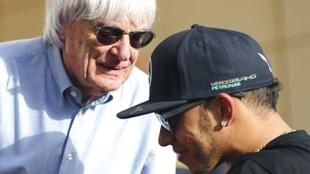 Ecclestone habló de la renovación de Hamilton por el equipo...