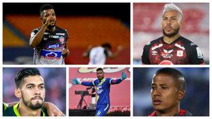Miguel Borja, Duván Vergara, Andrés Andrade, Álvaro Montero y...