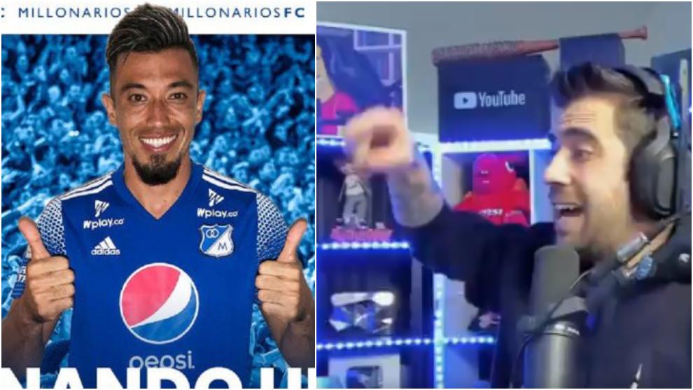 Collage de Fernando Uribe y AuronPlay.